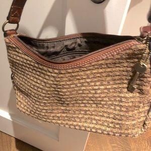Fossil woven handbag